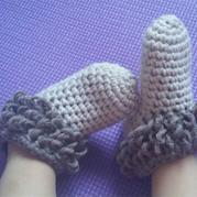 1小时就可以完成的钩针宝宝鞋