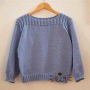 手编机织结合时尚女士毛衣 快乐编织机LK150作品