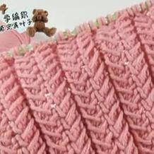 织法别致弹性大的棒针麦穗围巾编织视频