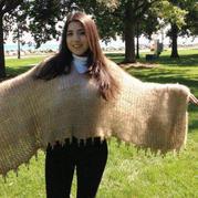 用狗毛编织时尚披肩 铲屎官的新技能-纺线与编织