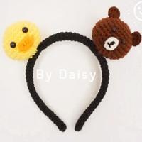 布朗熊小鸡儿童钩针发箍 零基础编织视频教程