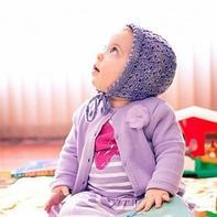 漂亮简单婴幼儿棒针蕾丝软帽
