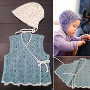 0~12个月婴幼儿和尚服马甲背心织法详图