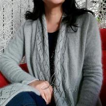 云马绢棉机织女士春款开衫 银笛SK280机织作品