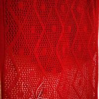 红火本命年机织镂空花女士长围巾 银笛SK280机织作品