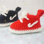 宝宝钩针运动板鞋编织视频教程
