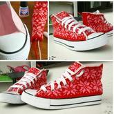 创意编织鞋子 用毛线重塑小白鞋