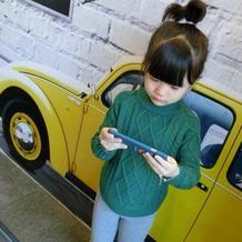 仿淘宝款云绒叁柒儿童棒针圆摆麻花毛衣