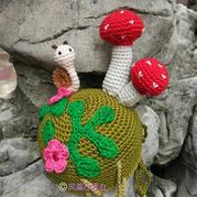 旧物改造毛线钩编蘑菇针插包
