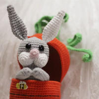 小兔子和它的萝卜房子 毛线编织玩偶小剧场