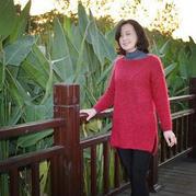 红玫瑰 女士棒针中长款毛衣