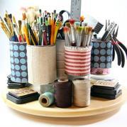 金属罐巧改手工艺达人桌面收纳装置