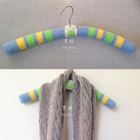 衣架的新衣 创意零线编织改造衣架