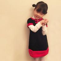 中式风格儿童棒针旗袍裙