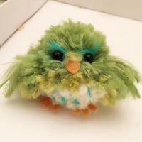 不修边幅的pompom球打造生动可爱小鸟