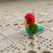 萌可爱钩针鹦鹉小鸟图解