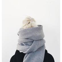 围巾搭配的好,风格百变气质十足,想不漂亮都难!