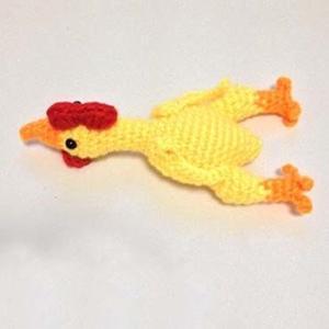 钩针尖叫鸡织法图解 好玩的毛线编织玩偶