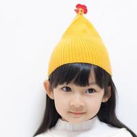 创意趣味棒针小鸡款帽子编织视频教程