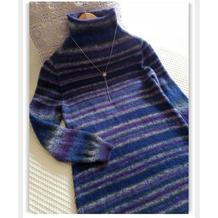 有立体剪裁效果的从上往下织女士毛衣款式