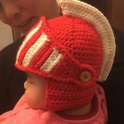 婴幼儿钩针古罗马骑士帽编织教程