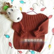 简约时尚欧美范棒针男宝宝毛衣