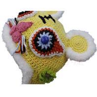 婴儿钩针虎头帽编织视频教程(3-2)