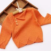1-2岁宝宝棒针开扣套头毛衣编织视频教程(2-1)