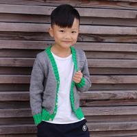 时尚男童棒针V领开衫毛衣编织视频(2-2)
