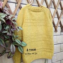可以织亲子装的简单儿童棒针套头毛衣