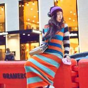 春意盎然彩色条纹大牌风尚毛衣 艺术与实用的完美平衡