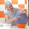 充气球与毛线DIY文艺风灯罩