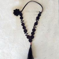 漂亮的钩针蕾丝毛衣项链图解