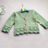 絲羊毛寶寶棒針開衫小毛衣