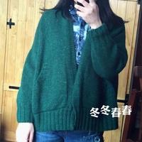 简约宽松女士棒针外套开衫毛衣长短款编织教程