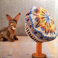 挑战多色编织花样 费尔岛花样棒针贝雷帽