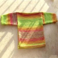 家机编织一字领儿童套头毛衣 Lk150编织机作品