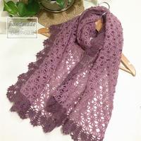 梦幻紫双色女士钩针围巾披肩