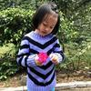 经典儿童双色V形条纹圆领毛衣编织视频教程