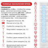 俄文钩针编织术语符号对照表 翻译图解参考