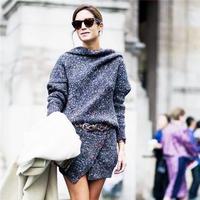 毛线裙穿搭时尚 你知道什么长度毛线裙子最适合你吗?