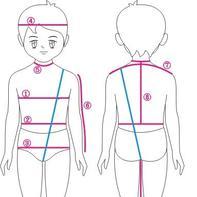 人体各部位的测量方法 毛衣设计参考