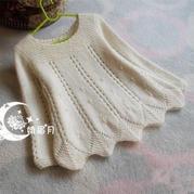仙仙的公主衣 儿童棒针珠饰裙式套头毛衣