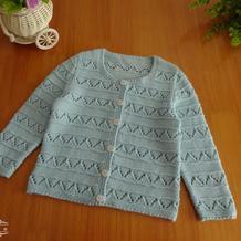 可爱实用萌芽毛线编织婴幼儿棒针开衫