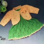 0-4岁儿童钩针春秋套裙(背心裙、外搭小开衫)