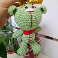 萌可爱钩针糖果熊编织图解