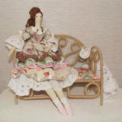 简单好看手工DIY娃娃欧式长椅 娃娃屋家具DIY教程