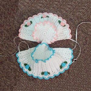 欧式风格钩针婴儿帽的钩法图文教程