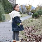 新手也可以织的儿童棒针连帽脖套斗篷