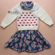心形毛衣绣图案宝宝毛衣编织视频(2-1)